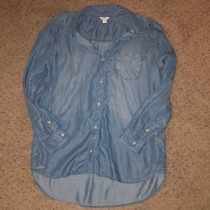 NWOT Sonoma Chambray Button Down
